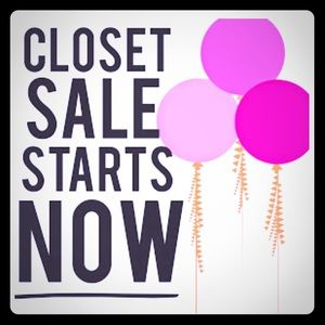 My whole closet is on sale